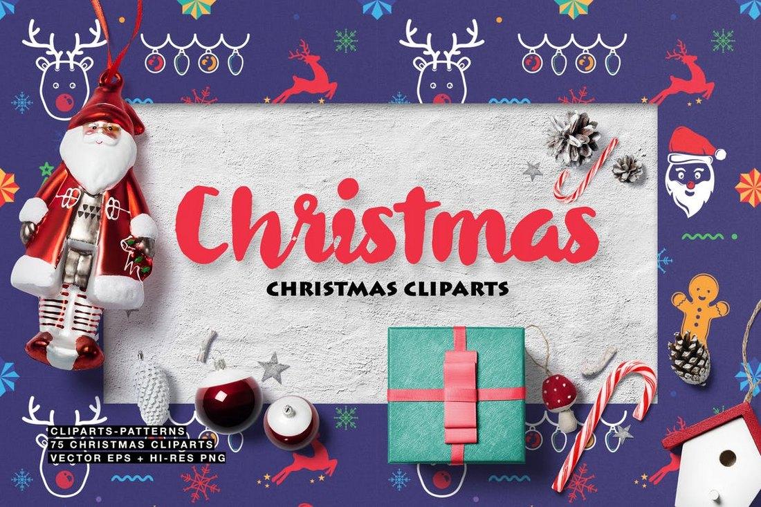75 cliparts de Noël