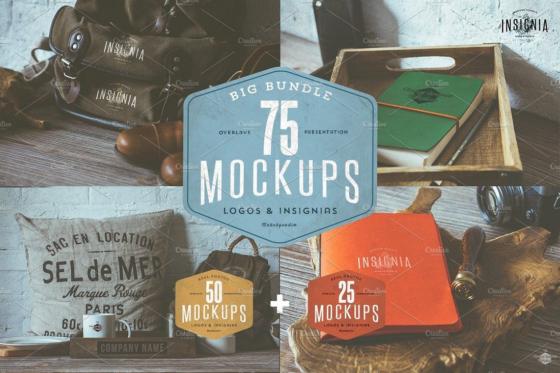 75-Hip-Logo-Overlay-Mock-Ups-BUNDLE 40+ Stunning Vintage Mockup Packs & Graphics design tips
