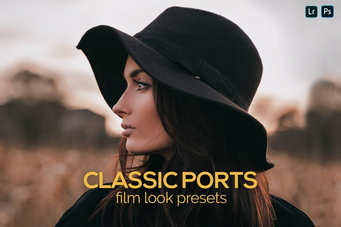 8 Classic Ports Film Look Lightroom Presets