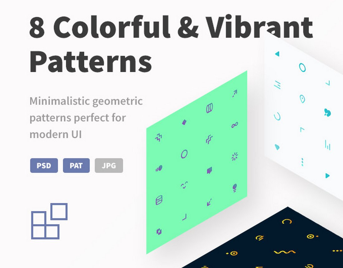 8 Colorful & Vibrant Patterns