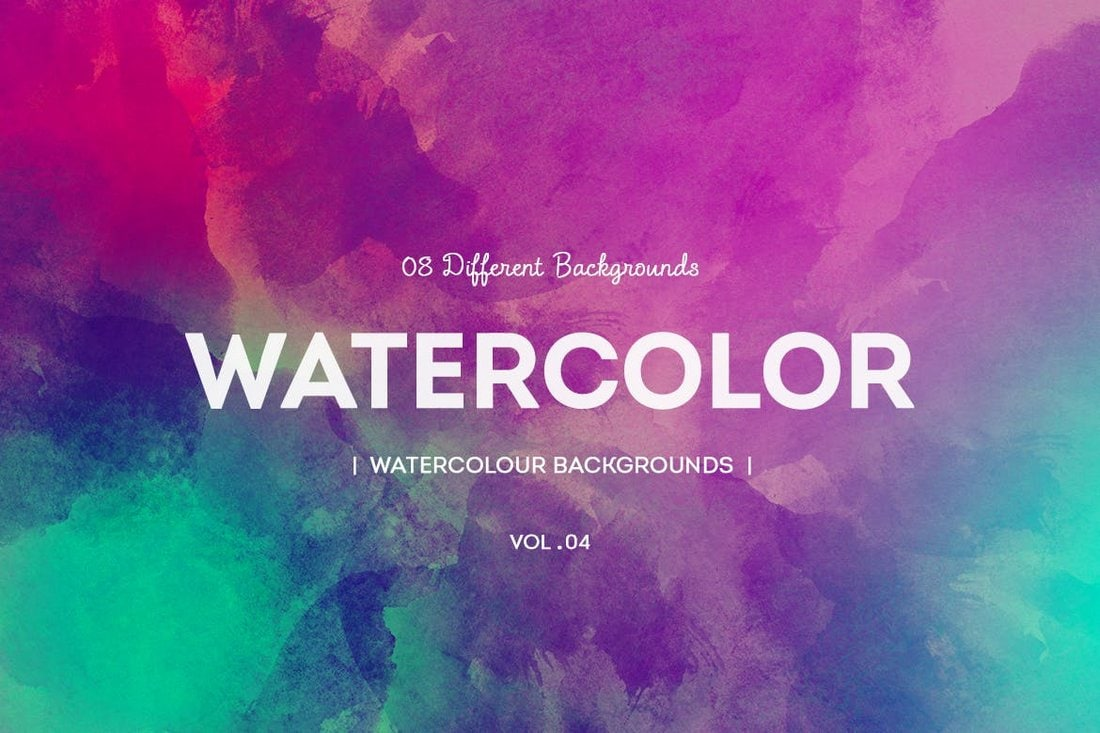 8 Colorful Watercolor Backgrounds
