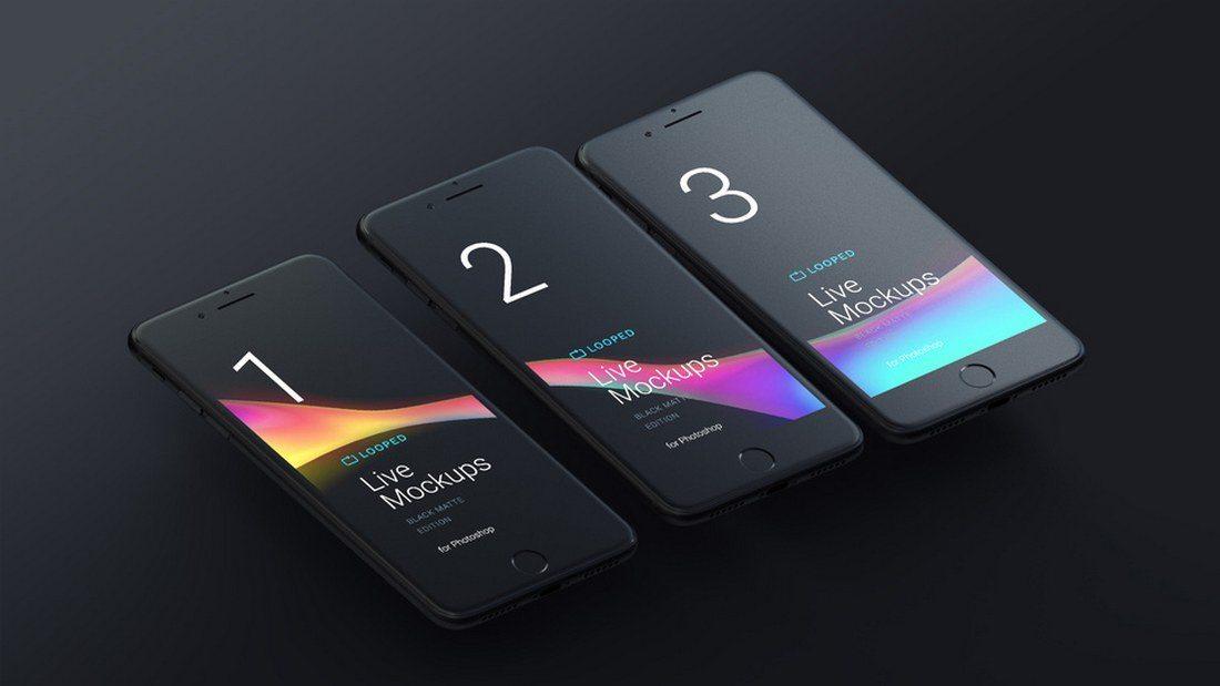 8-Free-Black-Matte-Devices-Mockups 20+ Best iPhone 8 Mockups design tips