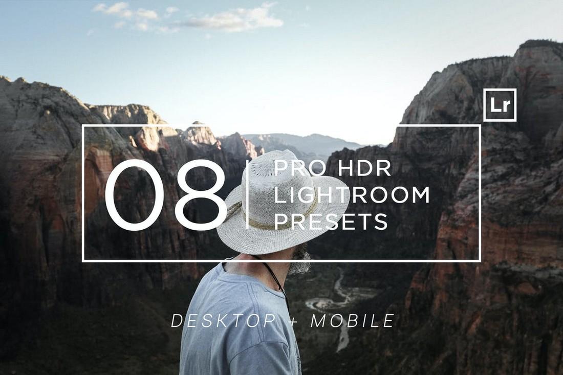 8 Pro HDR Lightroom Presets