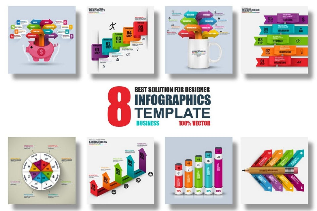 8-Vector-Infographics-Templates 40+ Best Infographic Templates (Word, PowerPoint & Illustrator) design tips