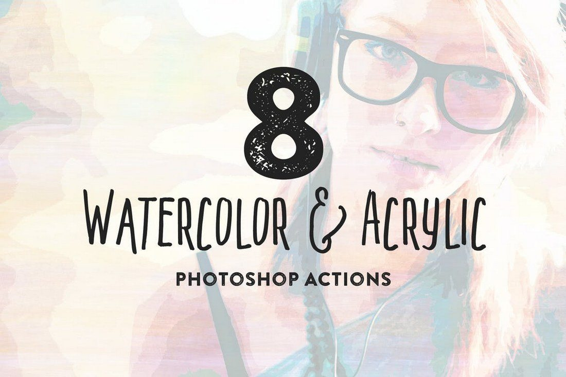 8-Watercolor-and-Acrylic-Painting-FX 20+ Best Watercolor Photoshop Actions design tips