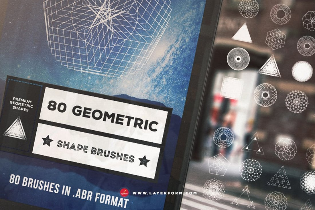 80 Geometric Shape Brushes