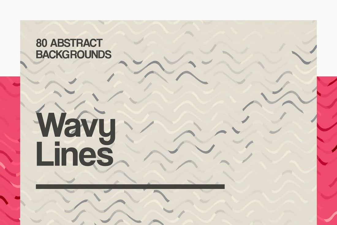 80 Wavy Lines Backgrounds