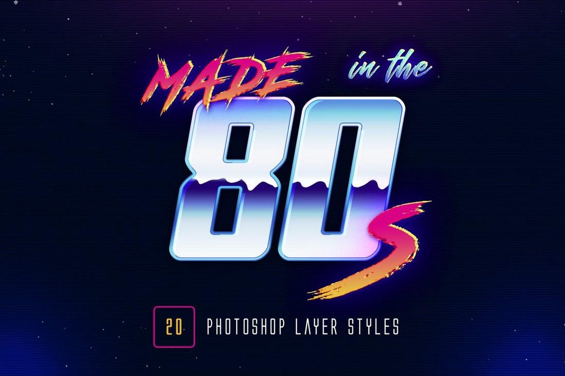 80s-Retro-Photoshop-Layer-Styles 20+ Best Photoshop Layer Styles in 2021 (Free & Premium) design tips