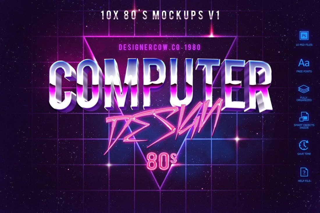 80s-Style-Text-Mockups-V1 30+ Best Retro Text Effects & Styles design tips