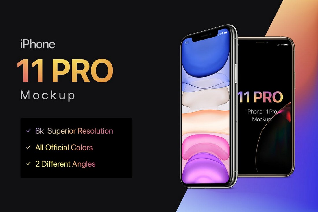 Maqueta 8K iPhone 11 Pro
