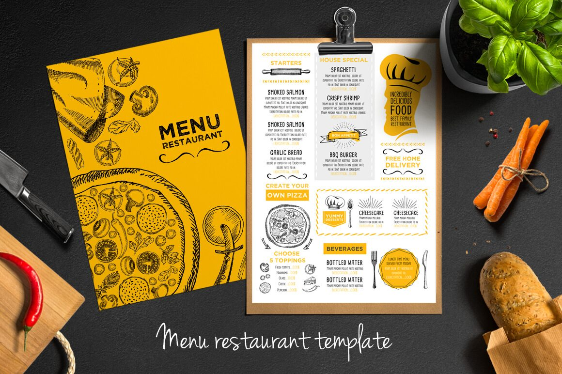 Food Menu Restaurant Flyer   Menu Restaurant And Food Menu