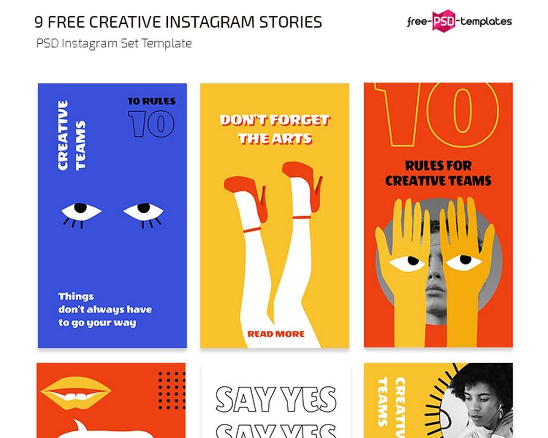 9 Free Creative Instagram Story Templates