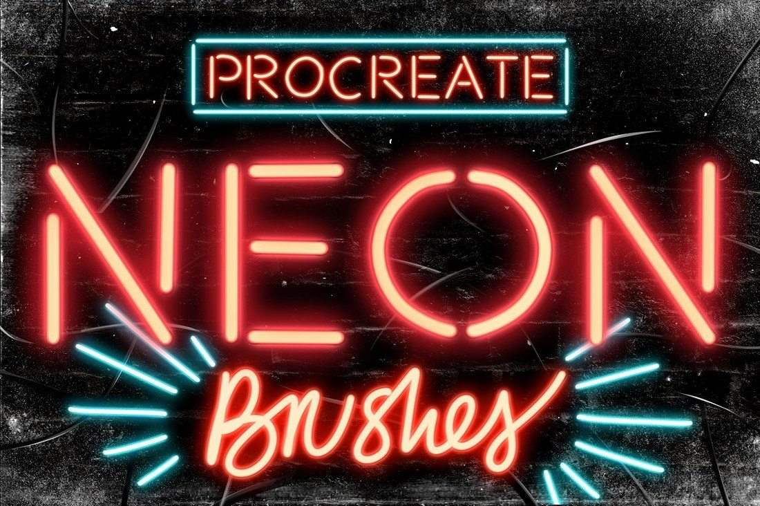 9-Neon-Procreate-brushes 30+ Best Procreate Brushes design tips
