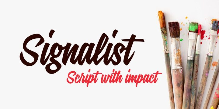 Beautiful script brush calligraphy fonts design
