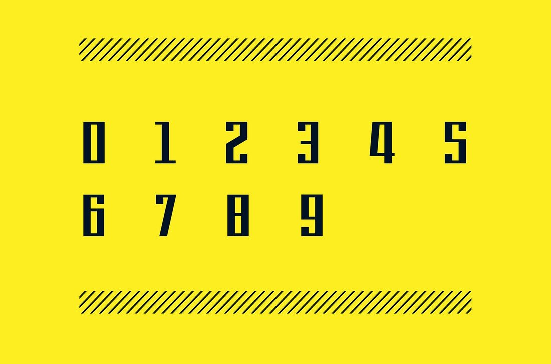 9BAR - Free Numers Font