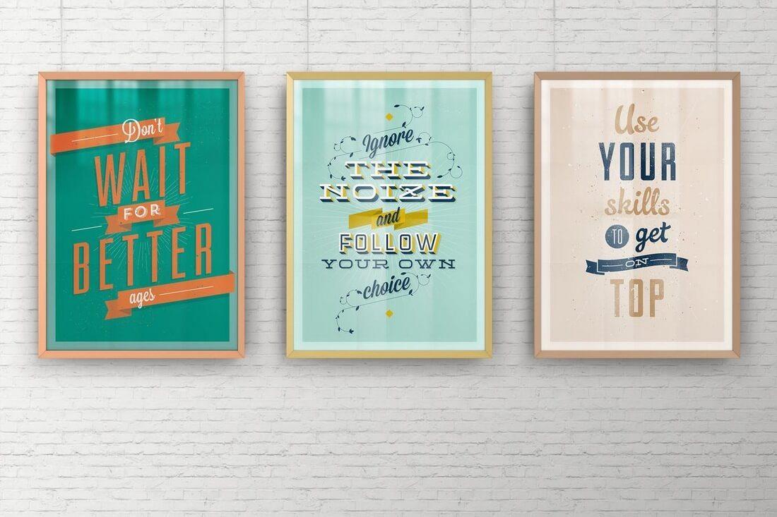 A2-Elegant-Poster-Frame-Mock-Ups 30+ Best Poster Mockup Templates 2021 design tips