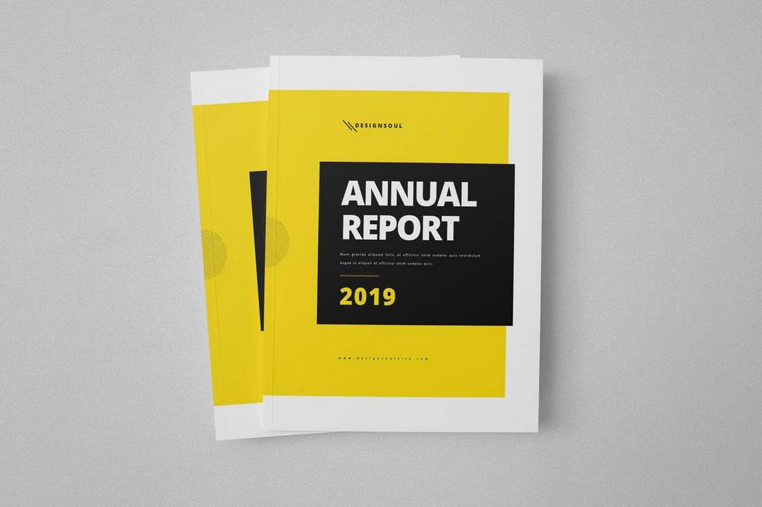 A4 Annual Report InDesign Template