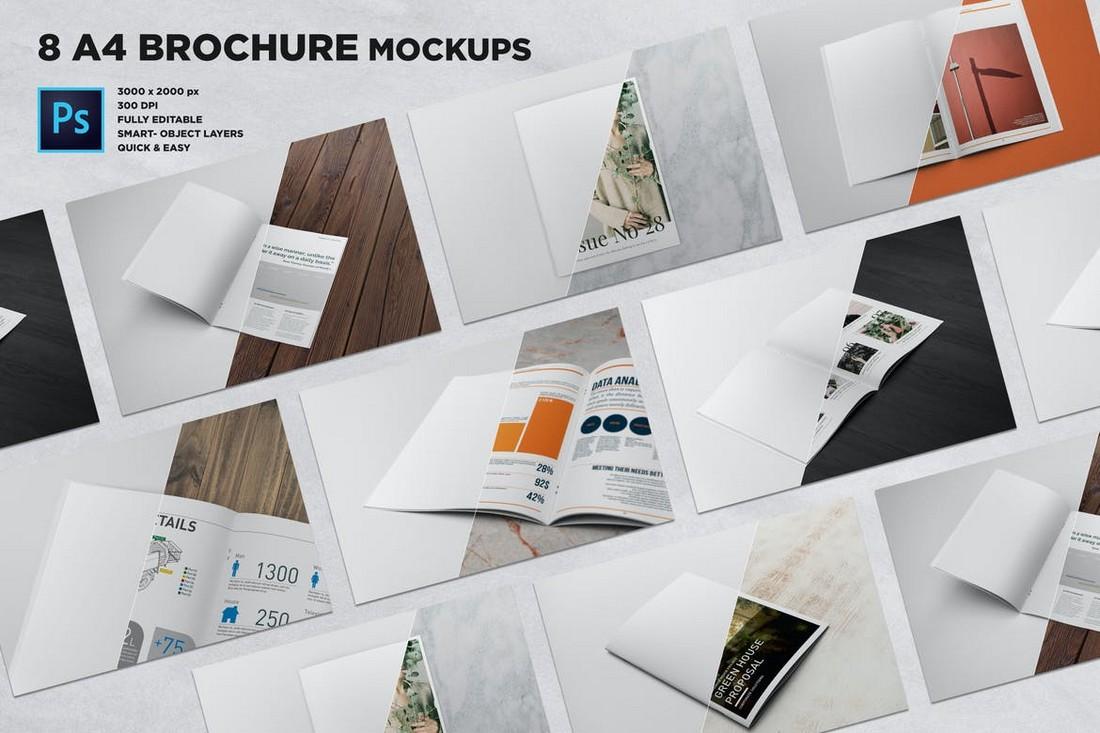 A4 Brochure Mockups Bundle