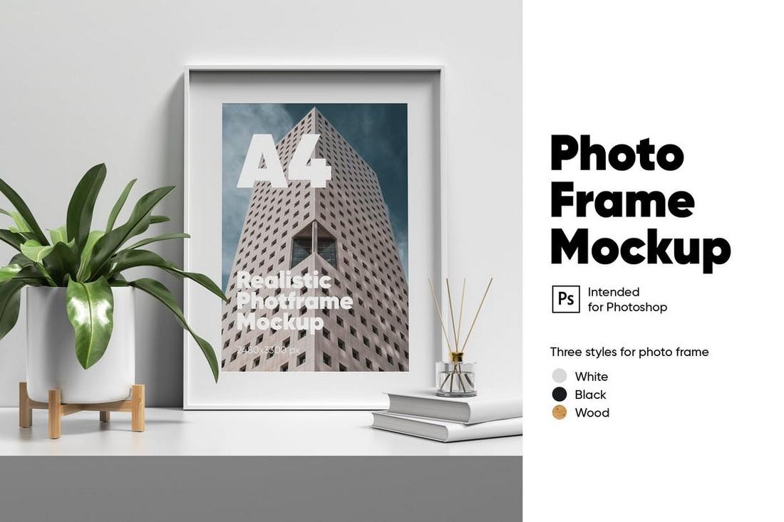 A4 Photo Frame Mockup