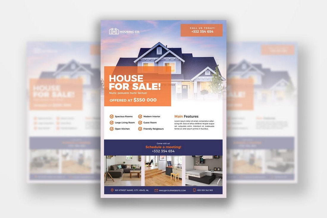 A4 Real Estate Flyer Template