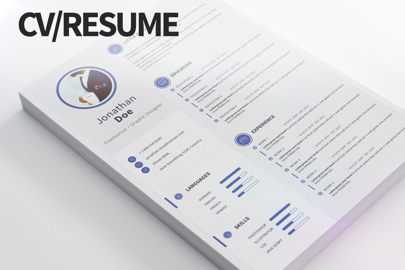 another simple resume template thats perfect for creating a basic resume this template is available in 4 different color variations and it comes in 4