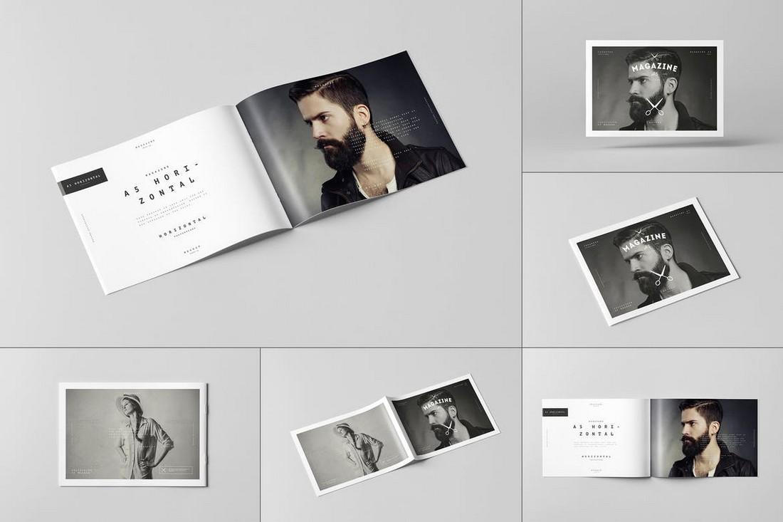 A5 Horiozontal Brochure Mockups