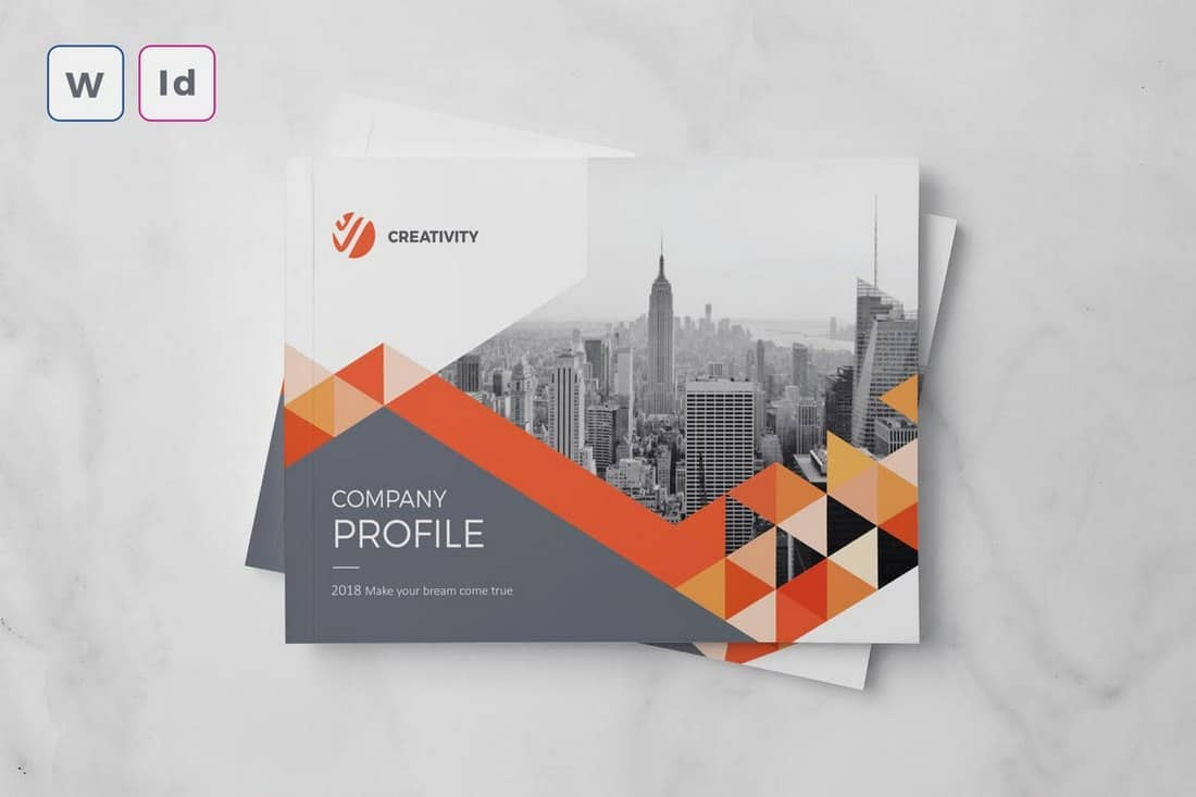 A5-Landscape-Company-Profile-Template-Word 20+ Best Company Profile Templates (Word + PowerPoint) design tips  Inspiration|company profile