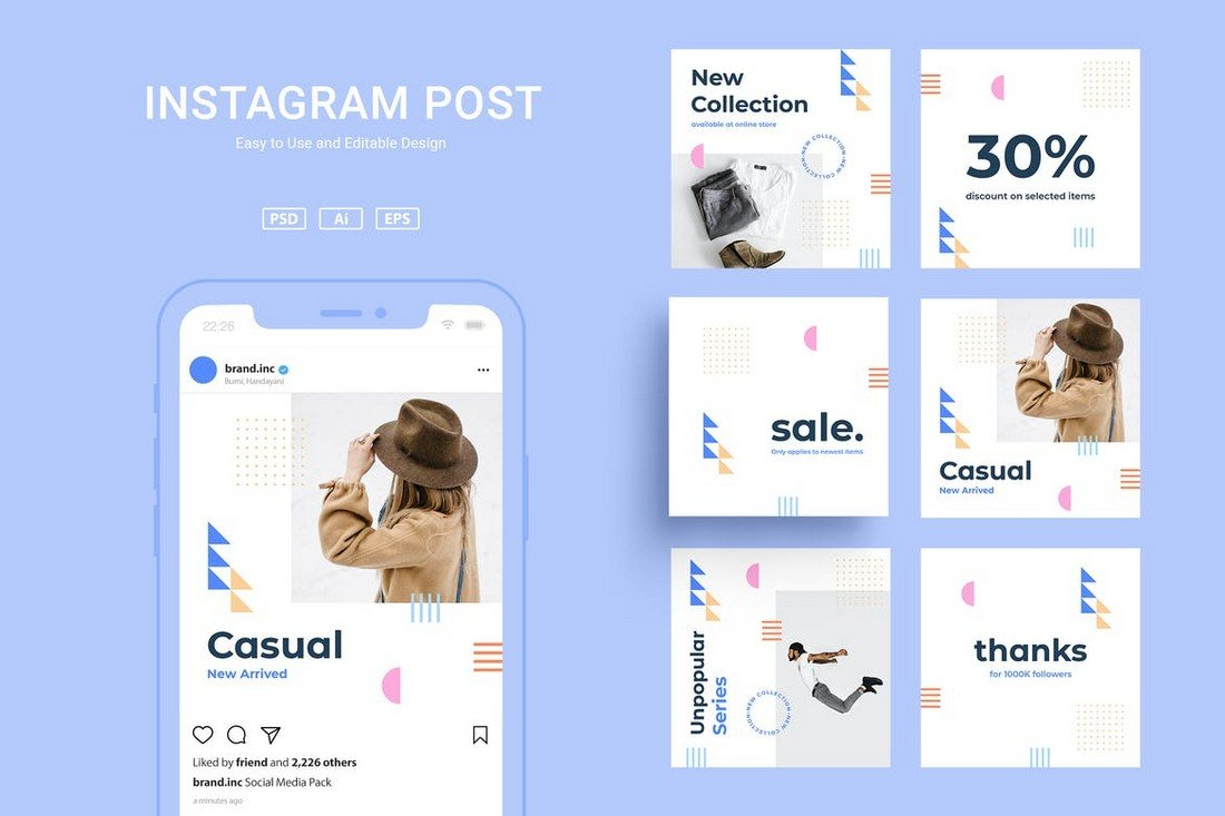 ADL - Clean Instagram Post Templates