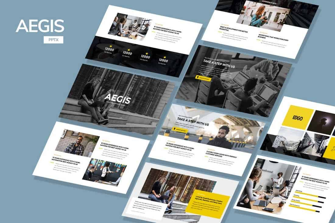 AEGIS-Agency-Powerpoint-Template 20+ Best Company Profile Templates (Word + PowerPoint) design tips  Inspiration|company profile