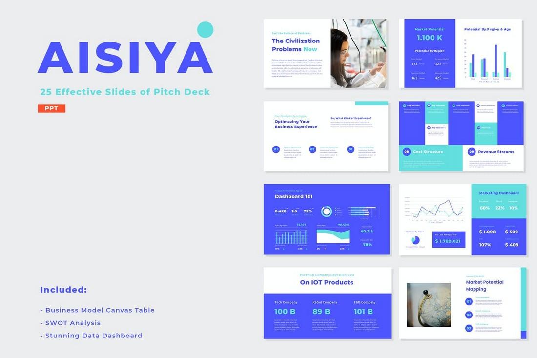 AISIYA - Pitch Deck Presentation Template