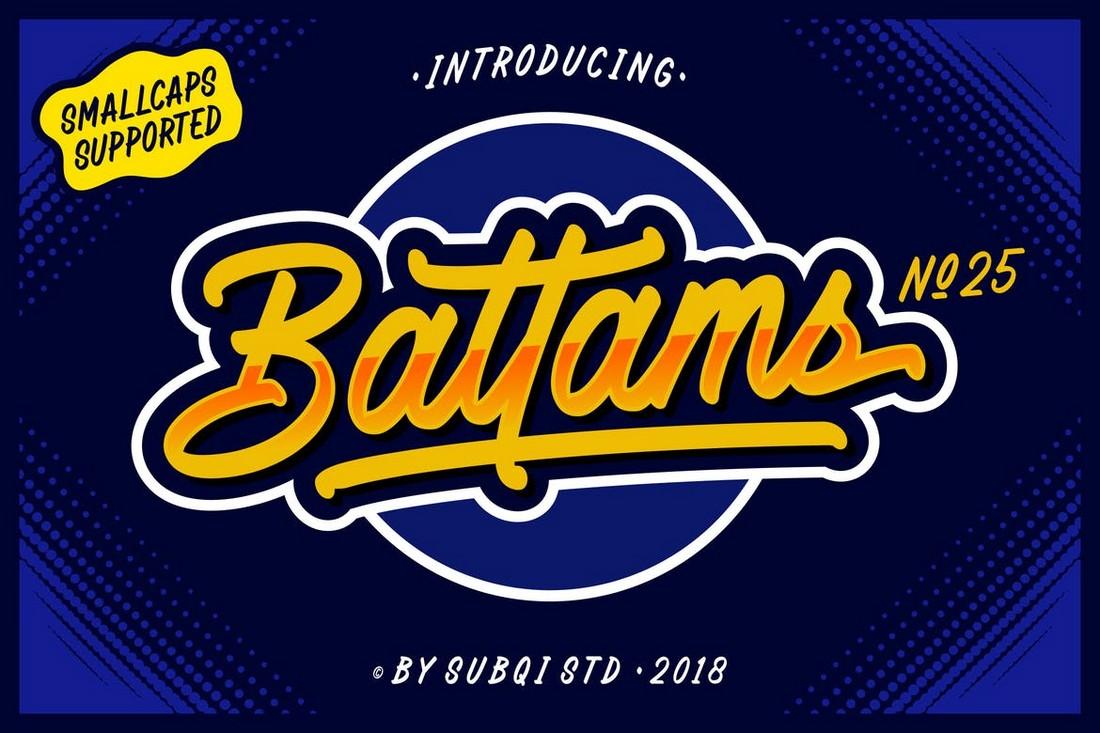 AMR-Battams-Unique-Retro-Font 25+ Best Retro Fonts in 2021 (Free & Premium) design tips