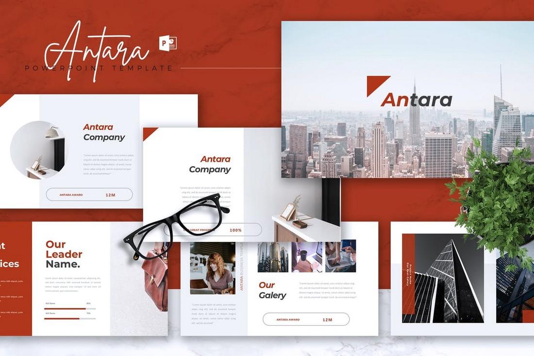 ANTARA-Business-Company-Profile-PowerPoint-Template 40+ Best Company Profile Templates (Word + PowerPoint) design tips