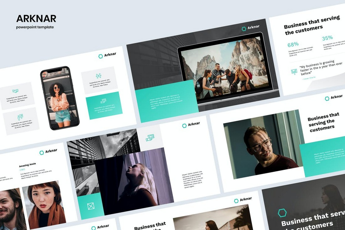 ARKNAR - Simple & Professional Powerpoint Template