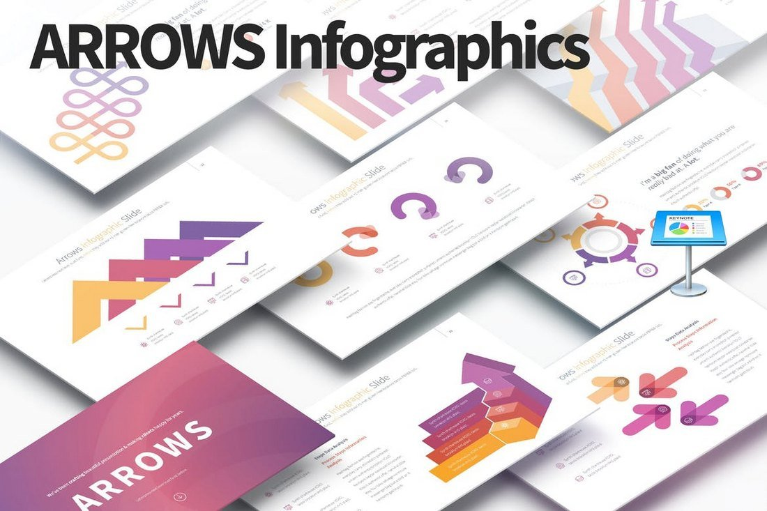 ARROWS-Keynote-Infographics-Slides 30+ Keynote Business Slide Templates design tips  Inspiration|business|keynote|presentation