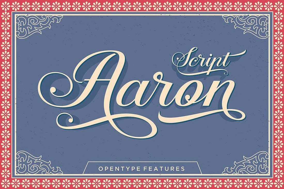 Aaron-Script 100+ Beautiful Script, Brush & Calligraphy Fonts design tips