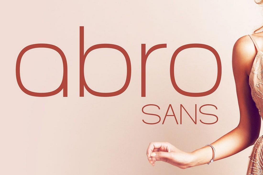 Abro Sans - Geometric Sans Serif Font