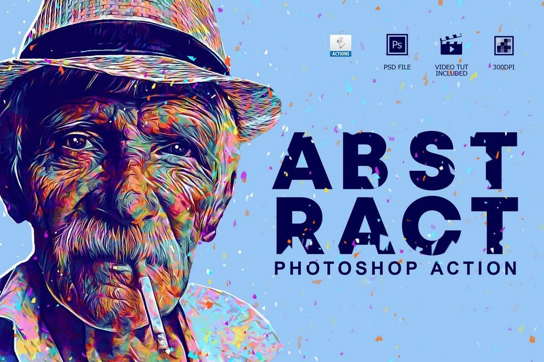 Abstract-Art-Photoshop-Action 50+ Best Photoshop Actions of 2020 design tips