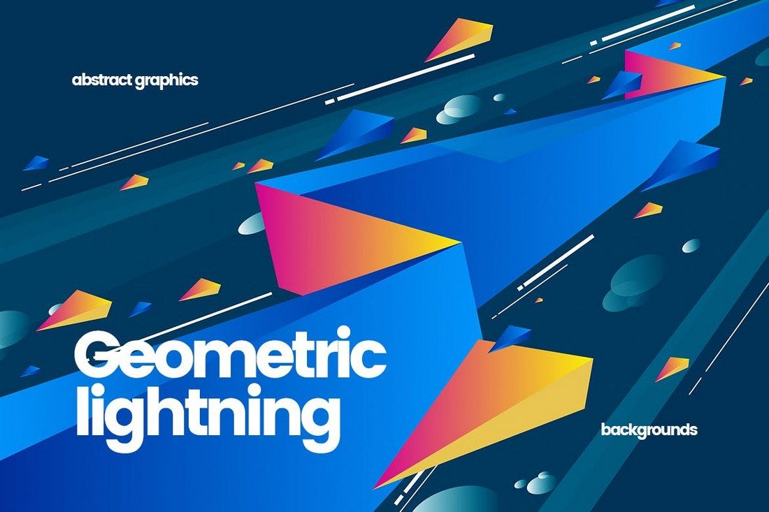 This Unique Background Pack Includes 10 Different Abstract Graphics That Feature Cosmic Like Designs With Colorful Lightning Bolts
