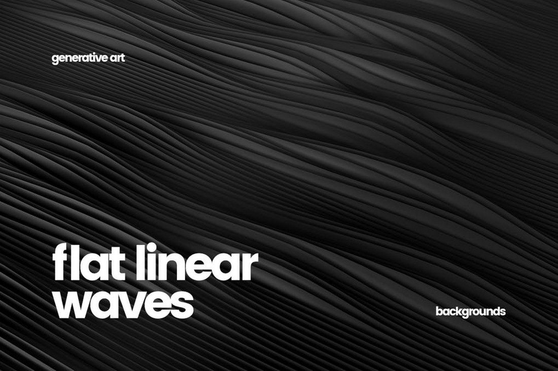 Abstract-Flat-Linear-Waves-Backgrounds 30+ Best Line Patterns & Textures design tips