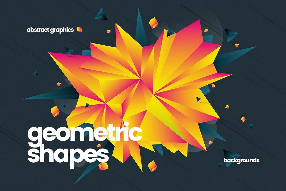Abstract-Geometric-Shapes-Backgrounds 20+ Beautiful Geometric & Polygon Background Textures design tips