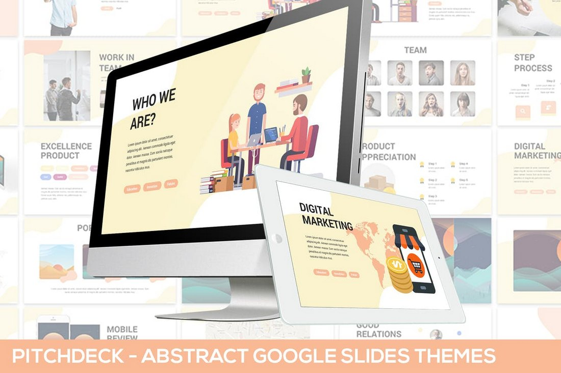 Abstract-Pitchdeck-Google-Slides-Template 15+ Google Slides Templates for Teachers design tips
