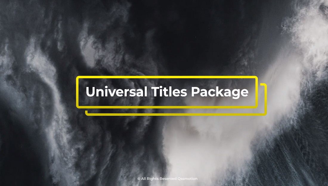 Abstract Titles Package For Premiere Pro