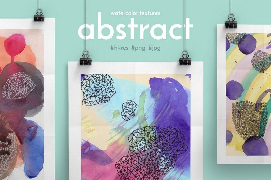 Abstract-Watercolor-Textures 30+ Best Watercolor Background Textures design tips