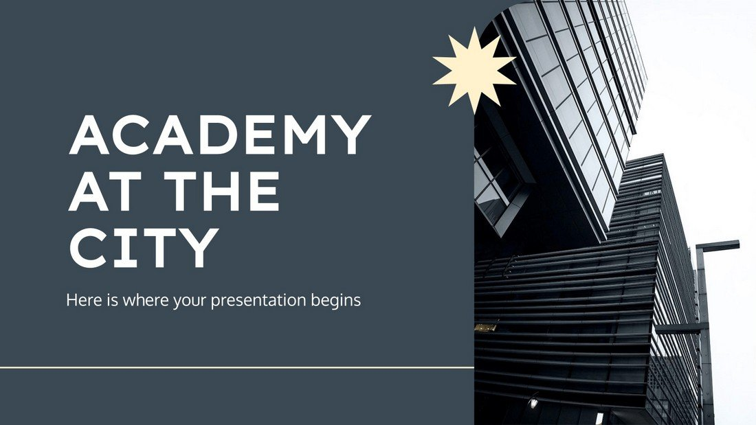 Academy at the City - Free Education PowerPoint Template