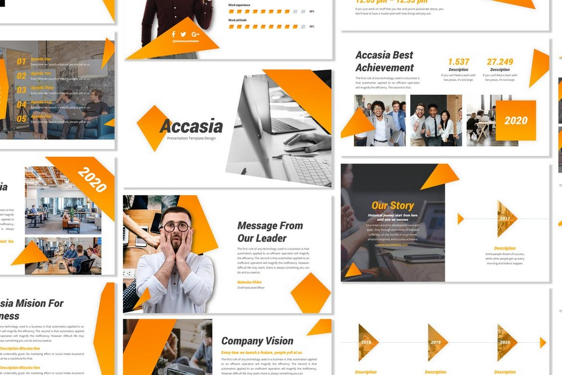 Accasia - Creative Business PowerPoint Template