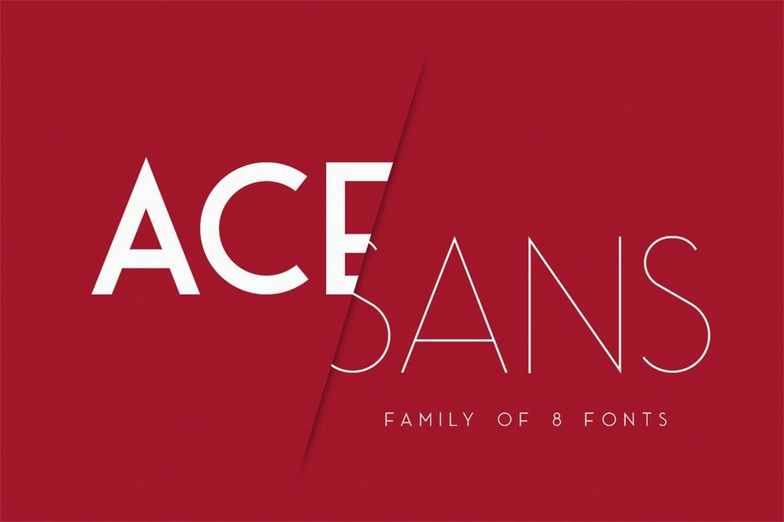 Ace Sans - Modern Minimal Font Family
