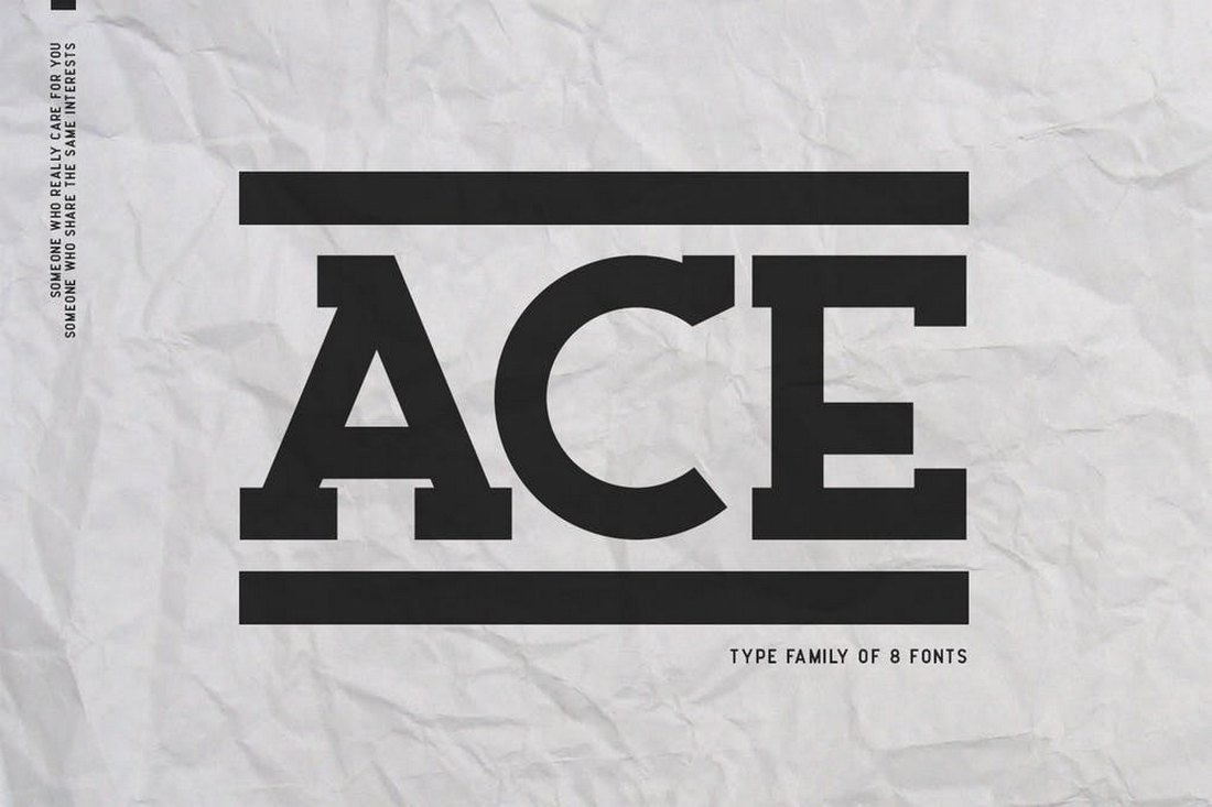 Ace Serif - Slab Serif Font