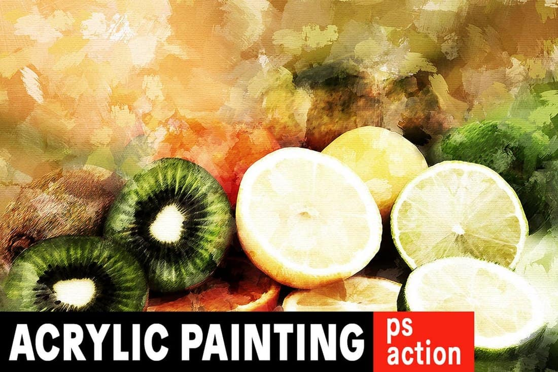 Acrylic Painting Photoshop Action