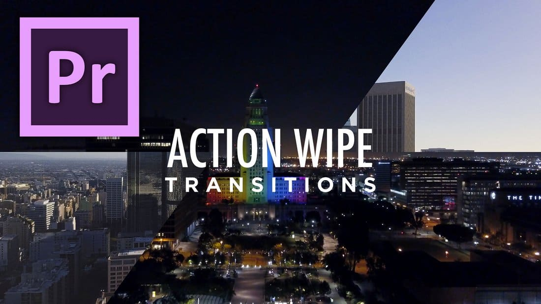 Action Wipe Transitions Premiere Pro Templates