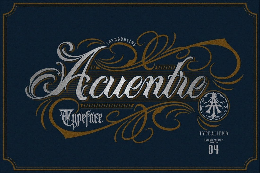 Acuentre - Vintage Tattoo Font